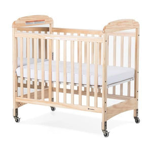 Compact Fixed-Side Crib w/ Adjustable Mattress Board - Mirror