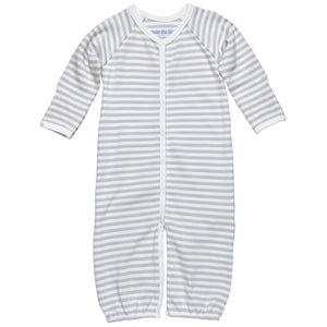 Convertible Romper- Grey Stripe
