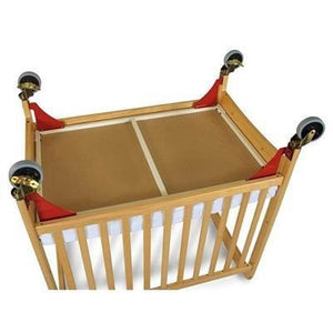 Evacuation Frame w/ antique brass casters for natural cribs (fits Next G