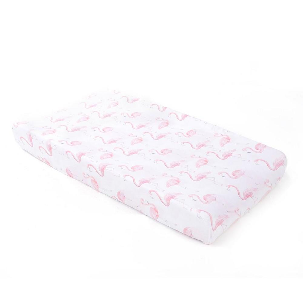 Flamingo Jersey Changing Pad Cover