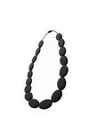 Flat Bead Fashionable Silicone Teething Necklace