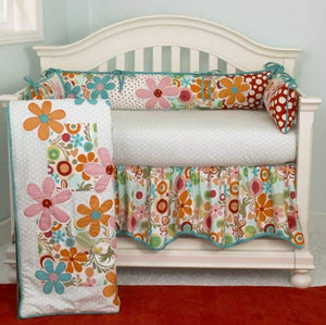 Floral 4PC Crib Bedding Set Lizzie Collection