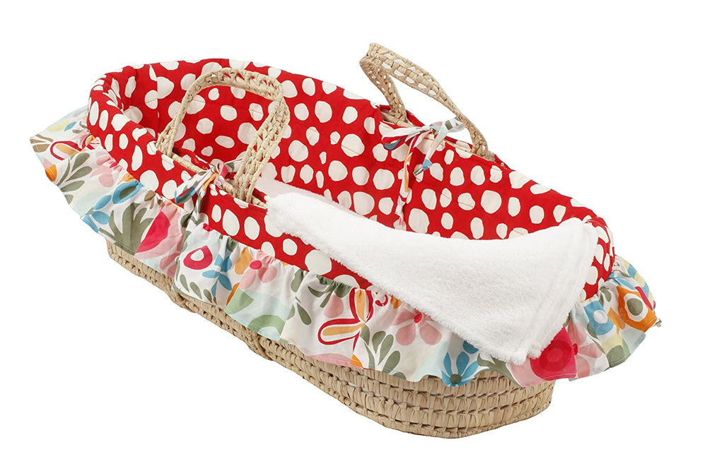 Floral Moses Basket Lizzie Collection
