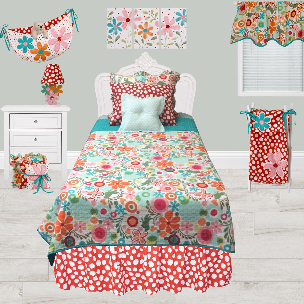Floral Ruffled Pillow Sham Lizzie Collection