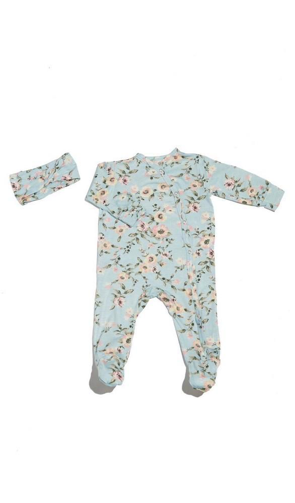 Footie 2-Piece Set-Cloud Blue