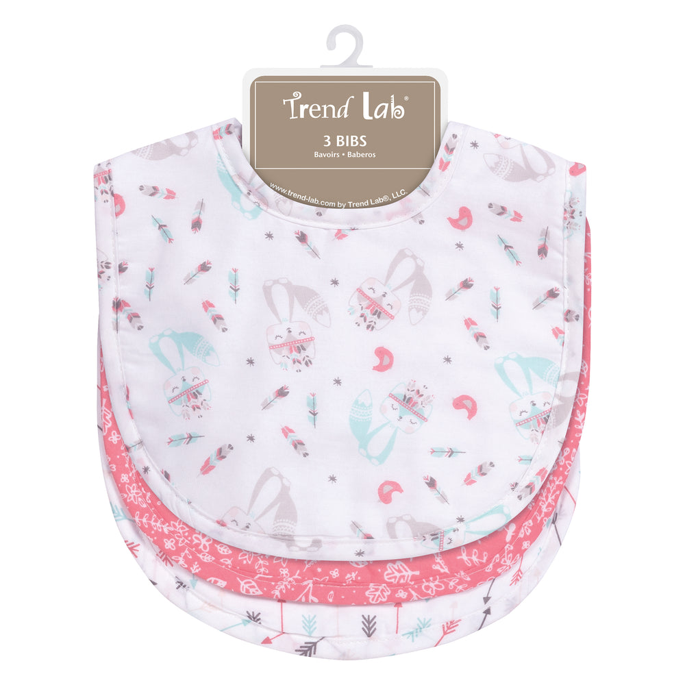 Fox and Feathers 3 Pack Bib Set
