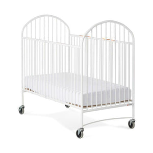 "Full-Size Pinnacle EasyRoll Folding Crib w/ 4"" Casters (Mattress Not Inc"