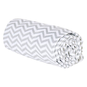 Gray Chevron Deluxe Flannel Swaddle Blanket