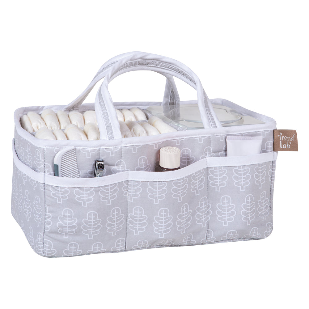 Gray Leaf Storage Caddy