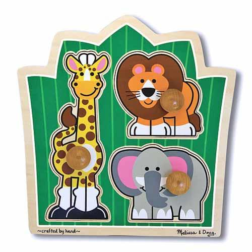 """Jungle Friends"" Safari Jumbo Knob Puzzle"