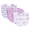 Lambs and Flowers 3 Pack Bib Set