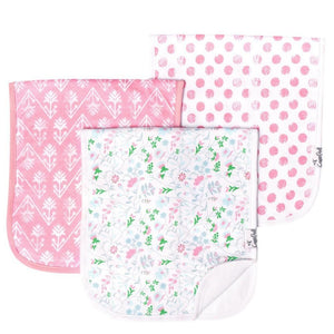 "Large 21"" x 10"" Premium Burp Cloth Set"