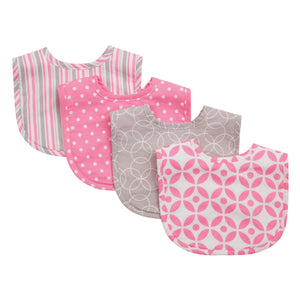 Lily 4 Pack Bib Set