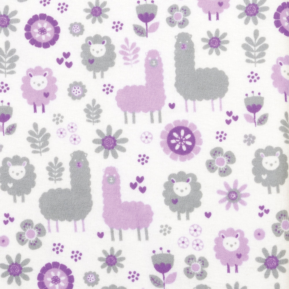 Llama Friends Deluxe Flannel Changing Pad Cover