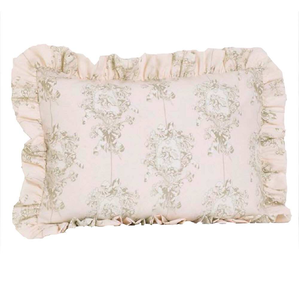 Lollipops & Roses 5 Pc Floral Twin  Bed Set (Dust Ruffle, Quilt, 1 Pillow Case, 1 Pillow Sham, 1 Throw Pillow)