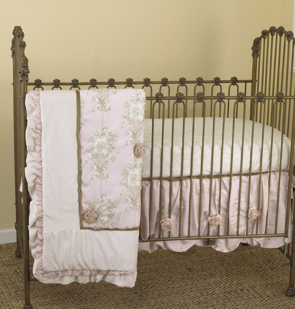 Lollipops & Roses 7pc Crib Bedding Set