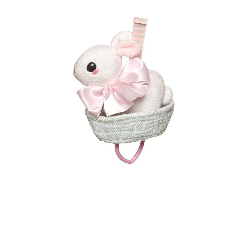Lullaby Bunny Pull Musical Crib Toy