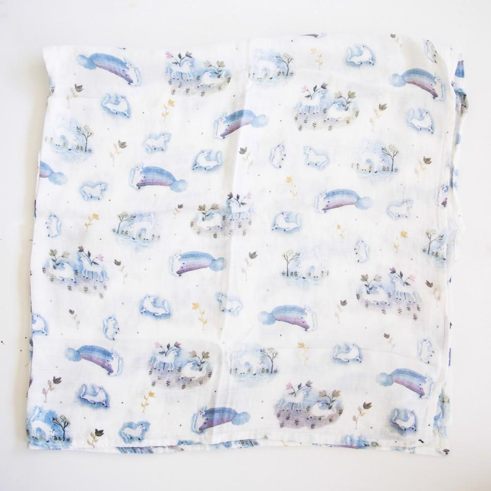 Luxe Muslin Swaddle-Unicorn