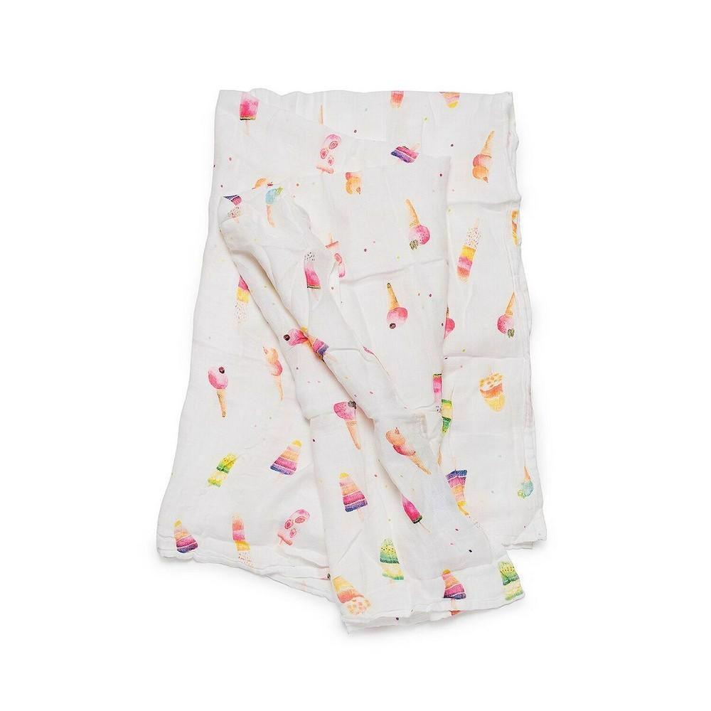 Luxe Muslin Swaddle-Ice cream