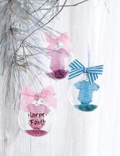 Mud Pie Christmas Baby Crawler Ornament Blue