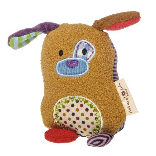 Natural Life Baby Animal Plush Rattle, You Are Loved Puppy
