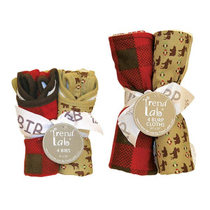 Northwoods 8 Piece Bib and Burp Cloth Set