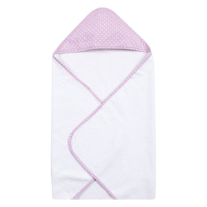 Orchid Bloom Dot Deluxe Hooded Towel