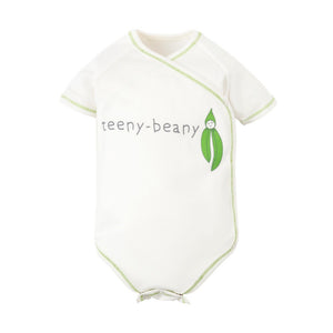 Organic Baby Teeny Beany Veggie Print Short Sleeve Side Snap Bodysuit