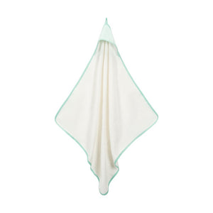 Organic Cotton Aqua Stripe Deluxe Hooded Towel