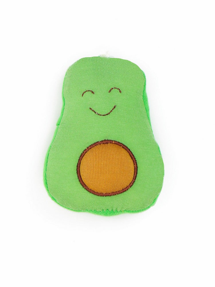 Organic Cotton Baby Stuffed Avocado Fruit Toy - 5""