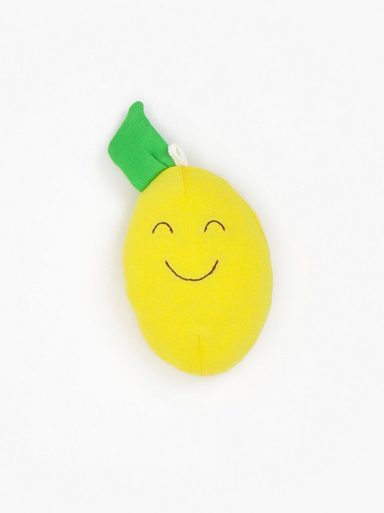 Organic Cotton Baby Stuffed Lemon Fruit Toy - 4""