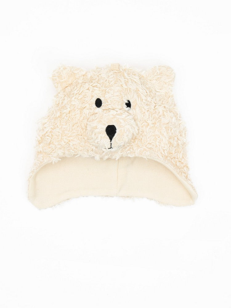 Organic Cotton Faux Fur Bear Ear Flap Hat