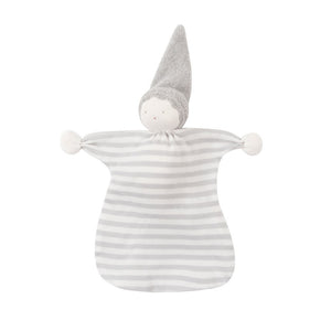 Organic Cotton Gray Stripe Sleeping Doll Lovey
