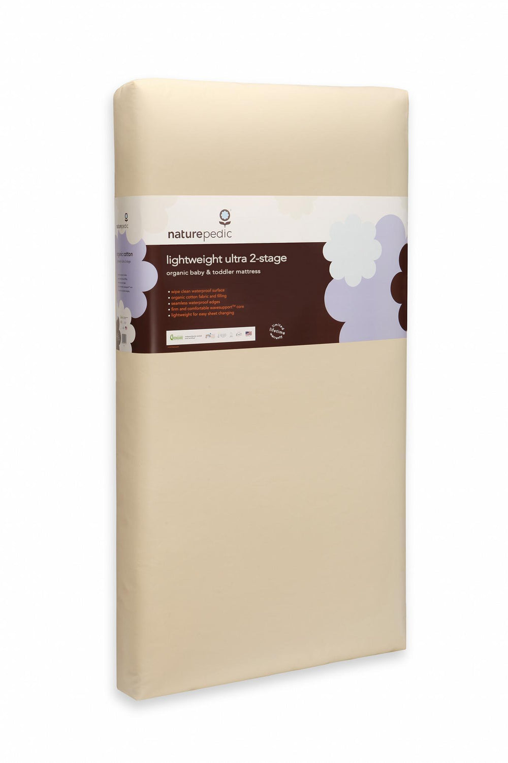 Organic Cotton Lightweight Ultra 2-Stage Crib Mattress