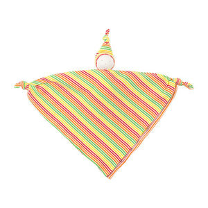 Organic Cotton Veggie Stripe Baby Hanky Doll