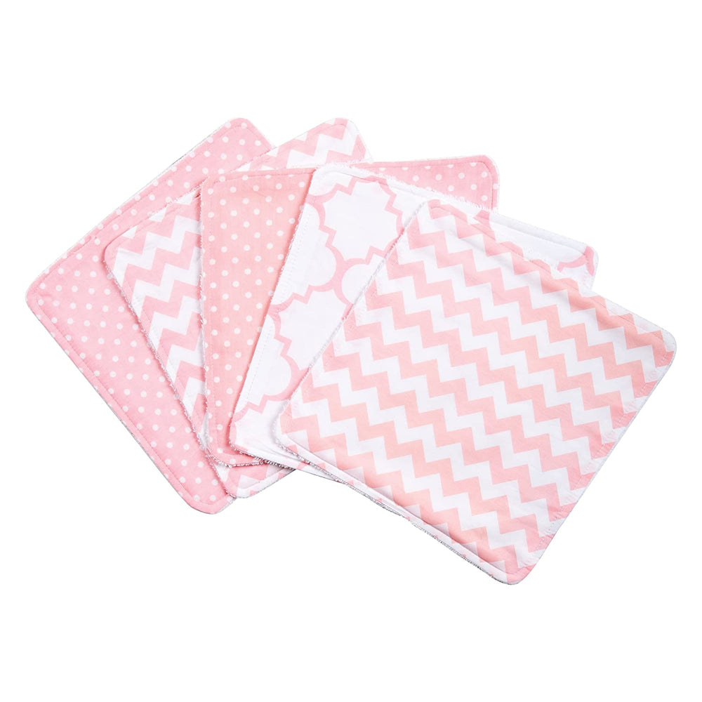 Pink Sky 5 Pack Wash Cloth Set