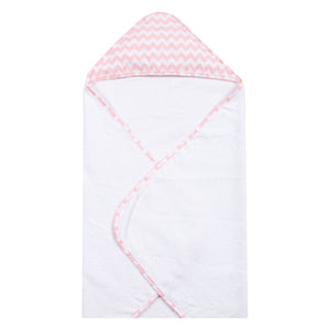 Pink Sky Chevron Deluxe Hooded Towel