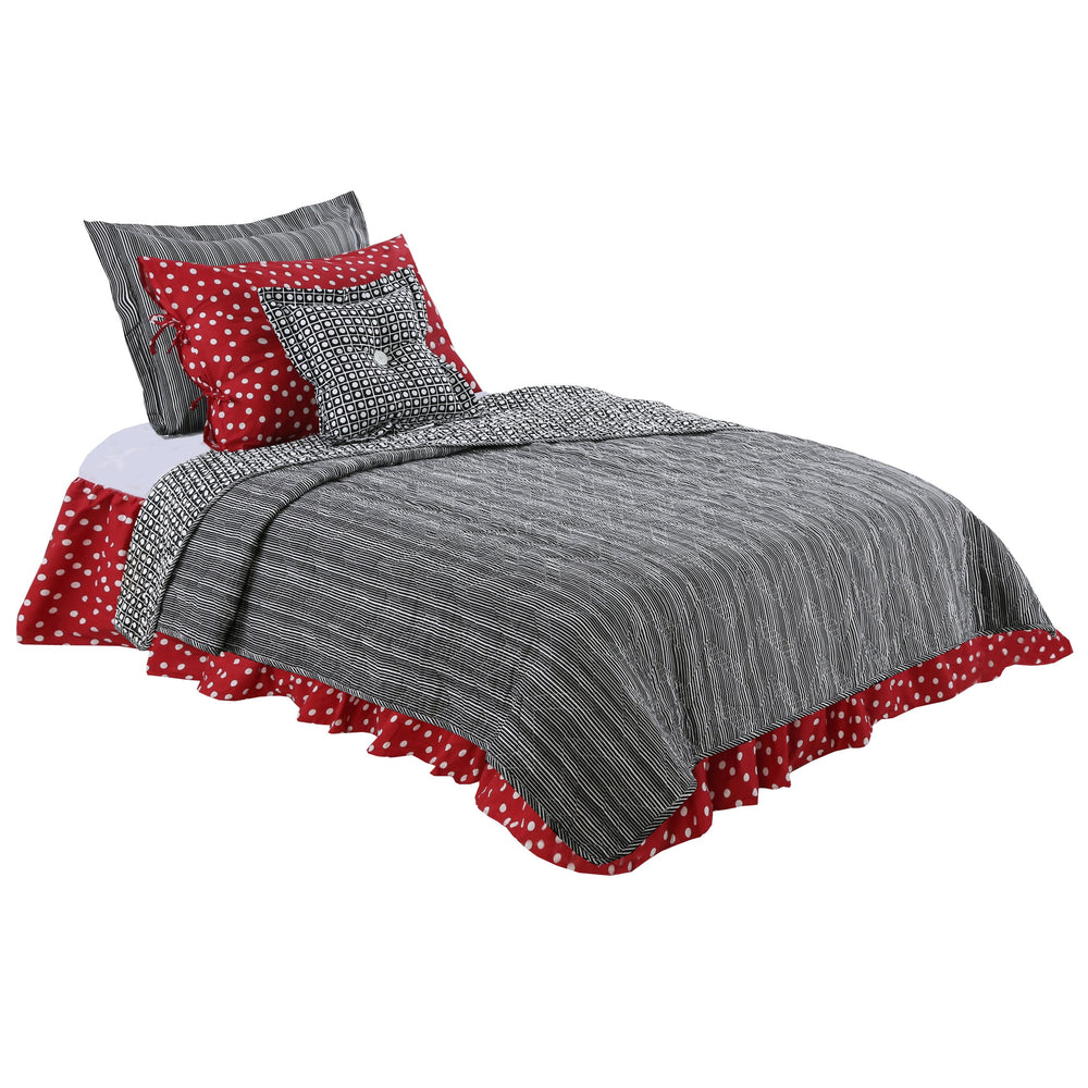 Pirates Cove Dots & Stripes Twin Reversible Quilt