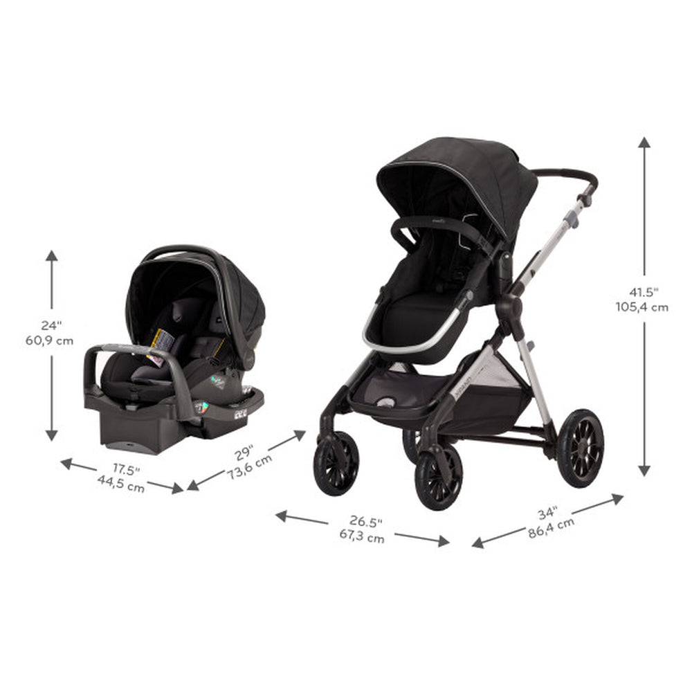 Pivot Xpand Car Seat Travel System with Safemax
