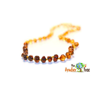 Polished Ombre Baltic Amber Necklace