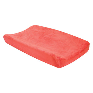 Porcelain Rose Coral Plush Changing Pad Cover