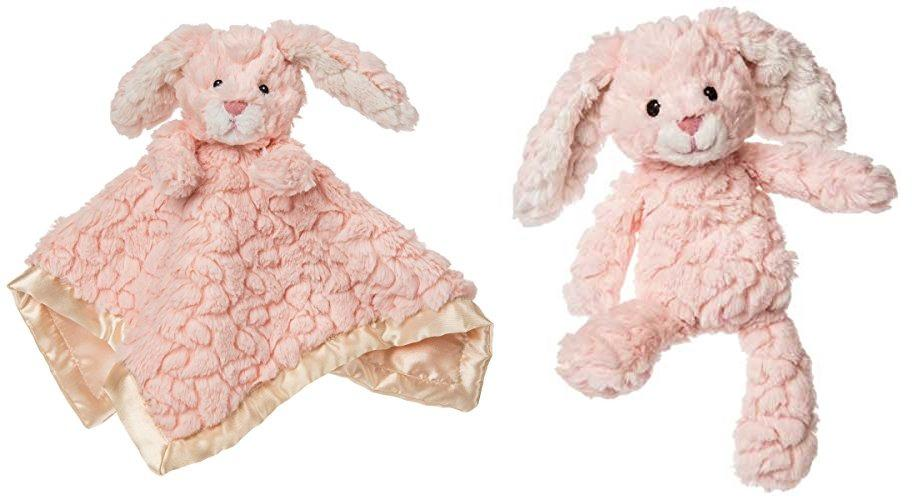 Putty Pink Bunny Toy and Bunny Character Blanket Lovey