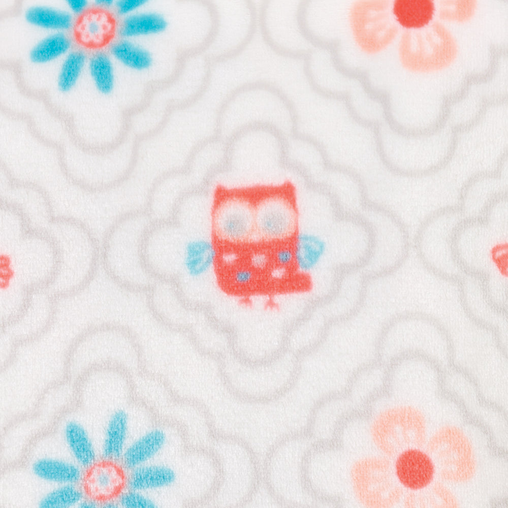 Quatrefoil Owls Plush Changing Pad Cover
