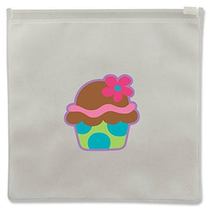 Reusable Cupcake Snack Bag Set of 2