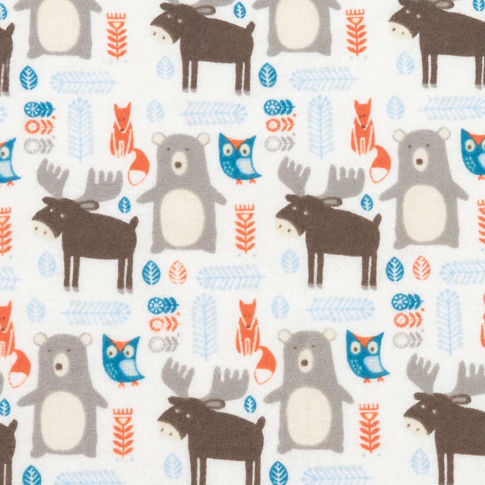 Scandi Forest Deluxe Flannel Changing Pad Cover