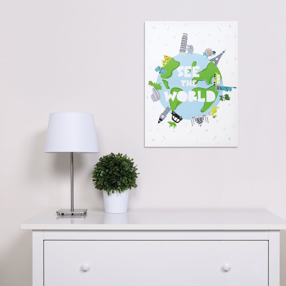 See the World Dinosaurs Canvas Wall Art