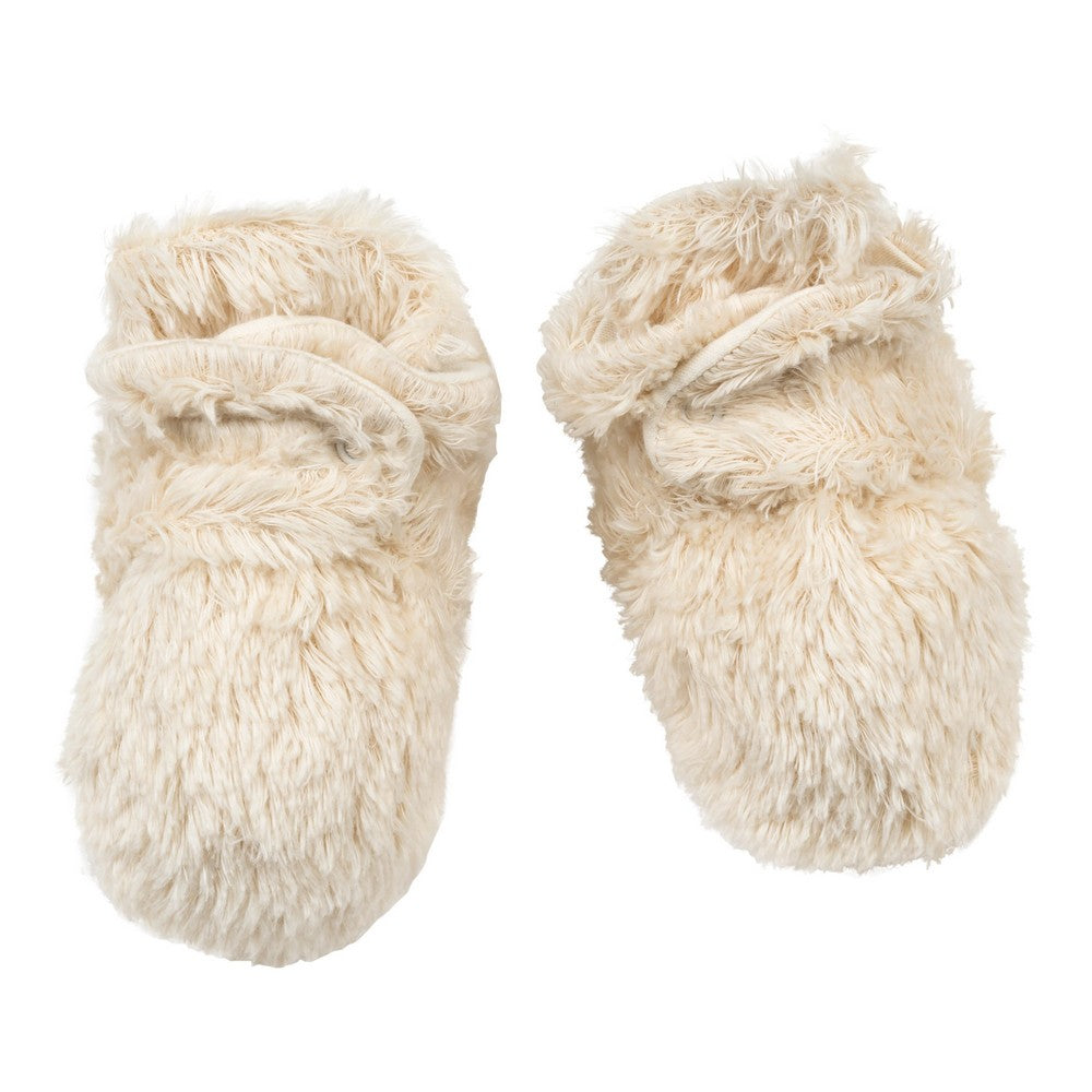 Shaggy Faux Fur Snap Booties - 0-6m