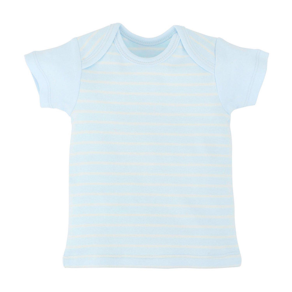 3-6M / Pale Blue Stripe