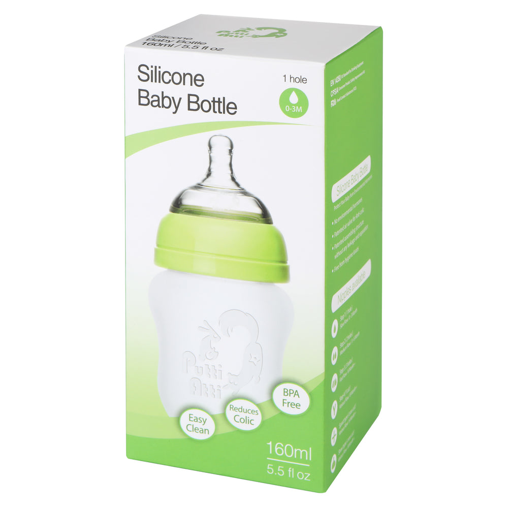 Silicone Baby Bottle 5.5fl oz