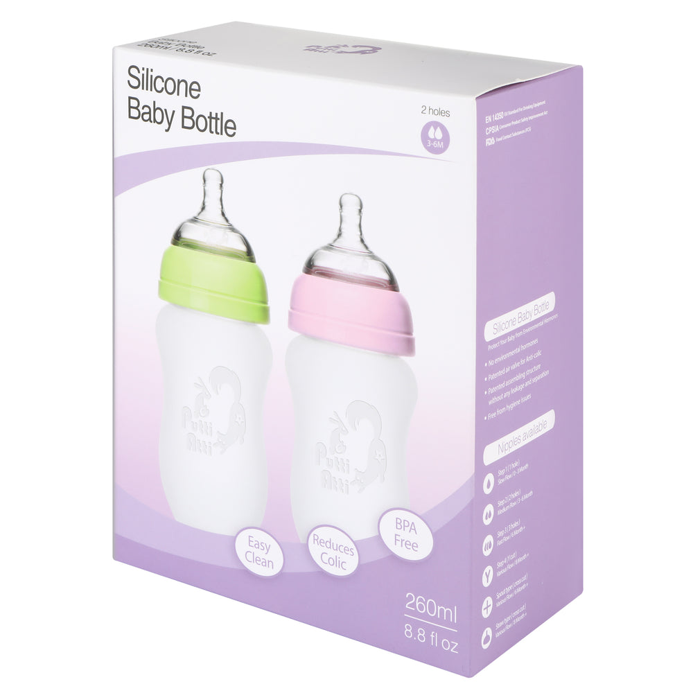 Silicone Baby Bottle Twin
